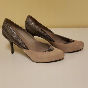 Donald J. Pliner Shoes - Donald J. Pliner suede and snake scale pumps